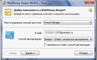 E-NUM — система авторизации и защиты платежей Webmoney