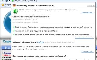 WebMoney Advisor — полезное расширение браузера для пользователей WM