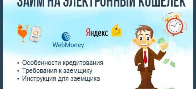 Займ на электронный кошелек — как взять кредит через Интернет